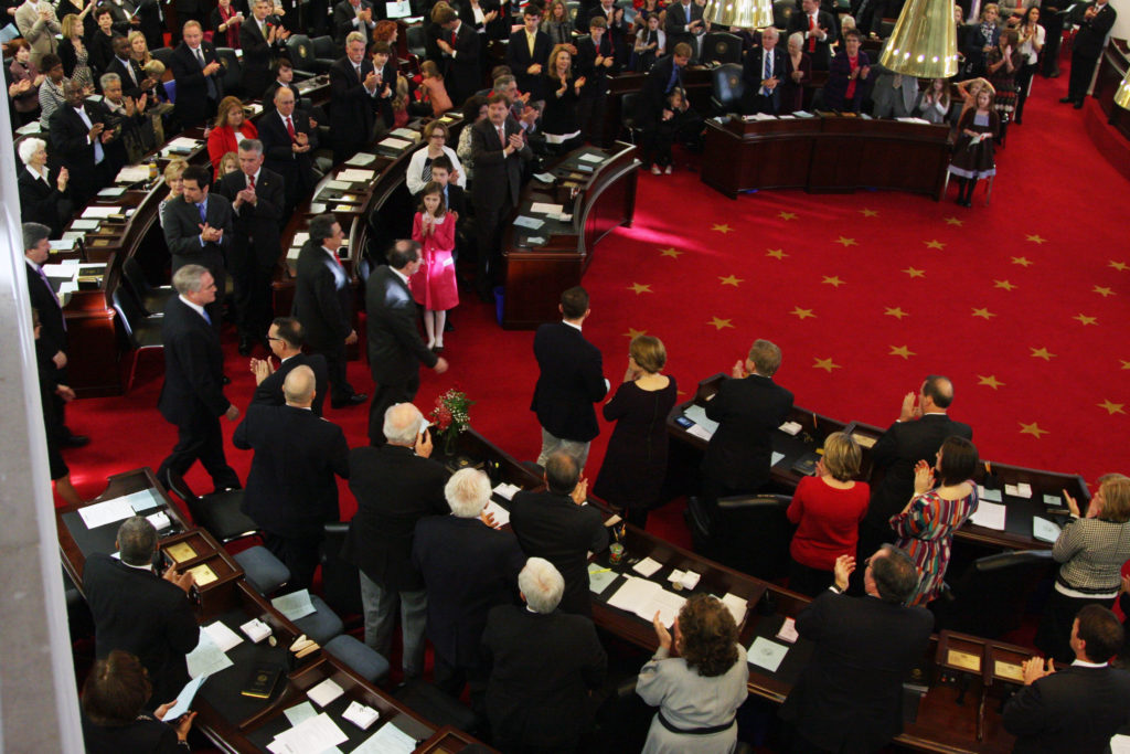 The first day of a legislative session typically is filled with ceremony, as shown in this image from the opening of the 2013 session. (CJ photo by Don Carrington)