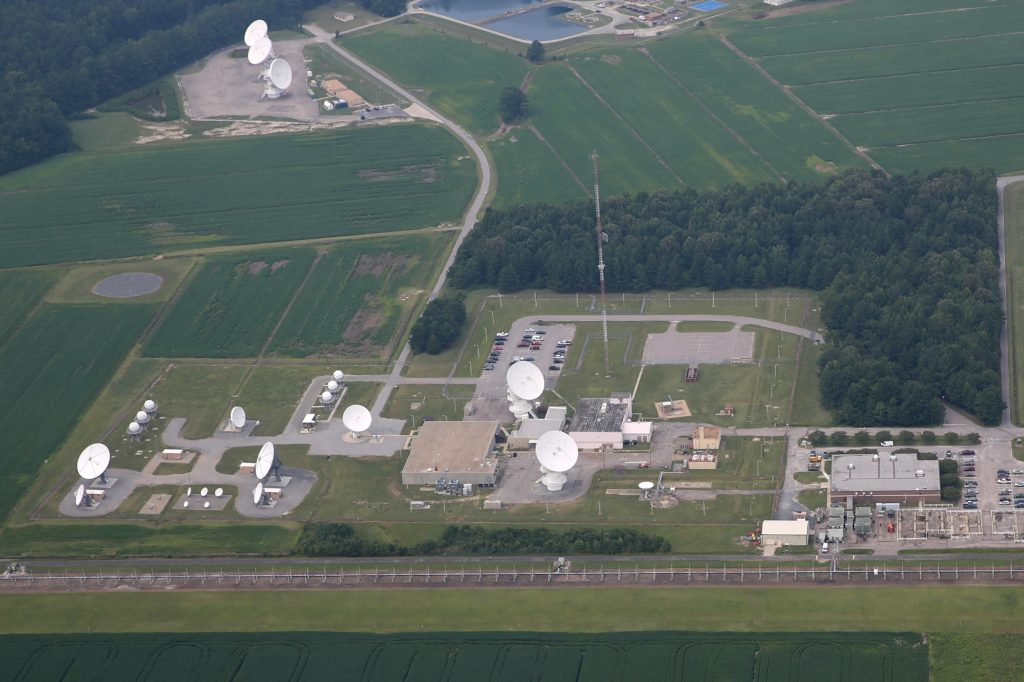 An aerial view of the Relocatable Over-the-Horizon Radar in Virginia. (CJ photo by Don Carrington)