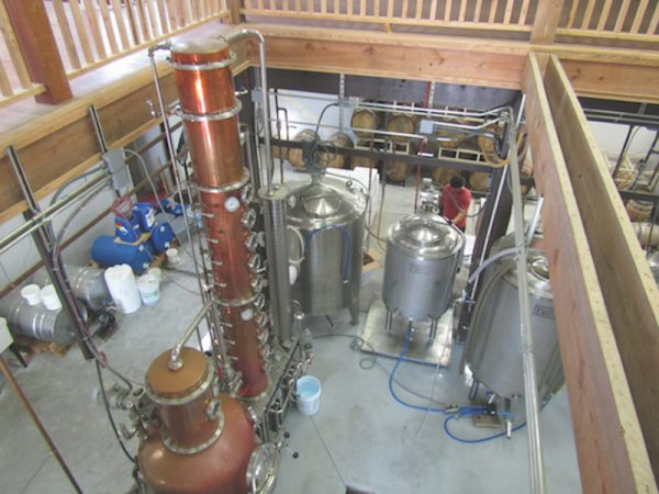 The view from above at Outer Banks Distilling in Manteo.