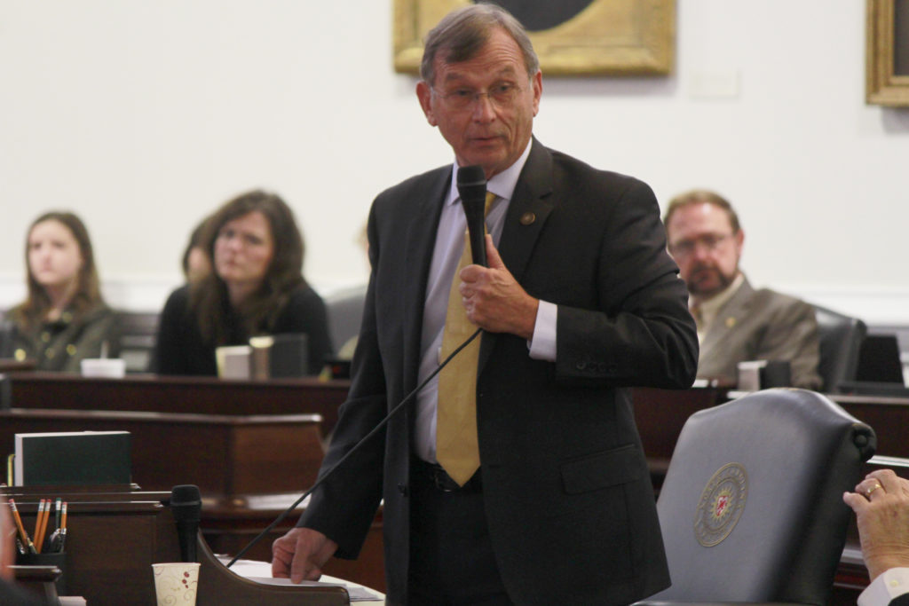 Sen. Bill Rabon, R-Brunswick, on the House floor in February 2017. (CJ Photo by Kari Travis)