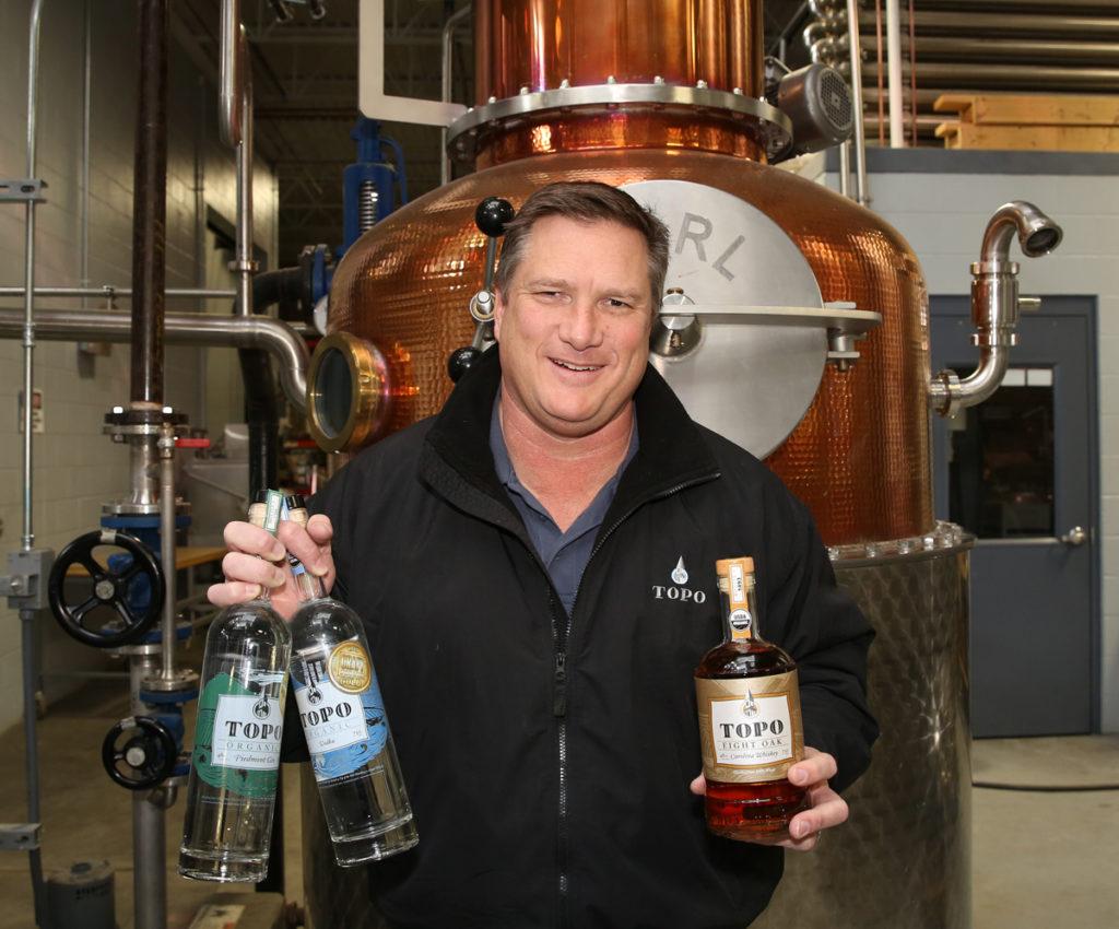 Scott Maitland, owner of TOPO Distillery in Chapel Hill. (CJ file photo)
