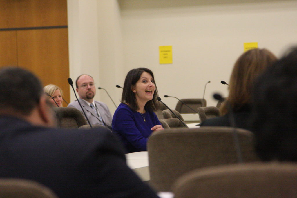 State Health and Human Services Secretary Dr. Mandy Cohen, pictured here at a 2017 legislative hearing. (CJ photo by Dan Way)