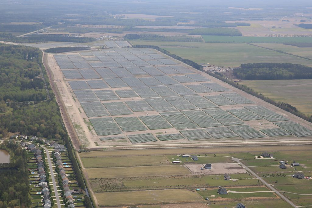The 60 MW Summit Farms Solar facility in Currituck County. (CJ photo by Don Carrington)