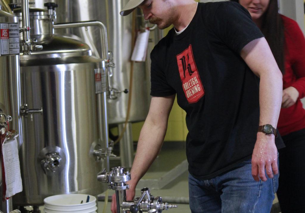 Scott Craddock, head brewer at Raleigh Brewing Company. (CJ photo by Kari Travis)