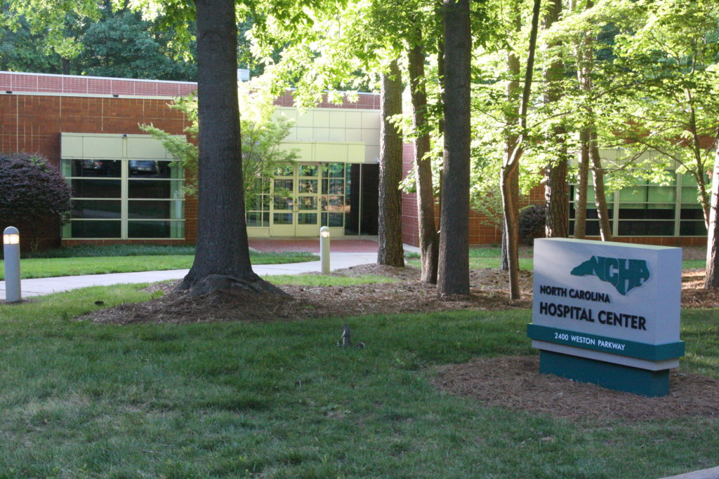2400 Weston Parkway in Cary is both the headquarters of the North Carolina Hospital Association and the address listed on incorporation paper for Partners for Innovation in Health Care, a new political advocacy group that plans to raise millions to maintain the state's certificate-of-need laws. (CJ photo by Dan Way)