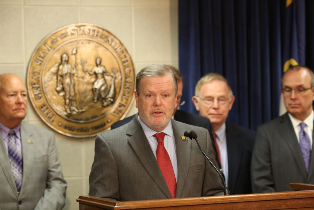 Senate leader Phil Berger, R-Rockingham, pictured in May at the legislative complex. (CJ photo by Don Carrington)