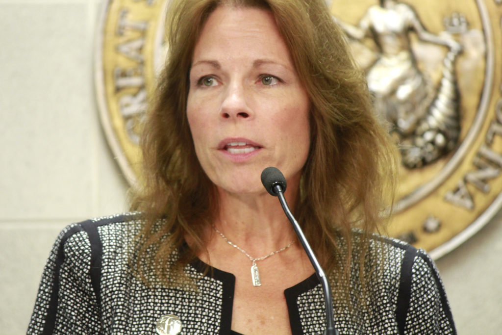 Sen. Tamara Barringer, R-Wake, pictured at a news conference in May 2018. (CJ Photo by Kari Travis)