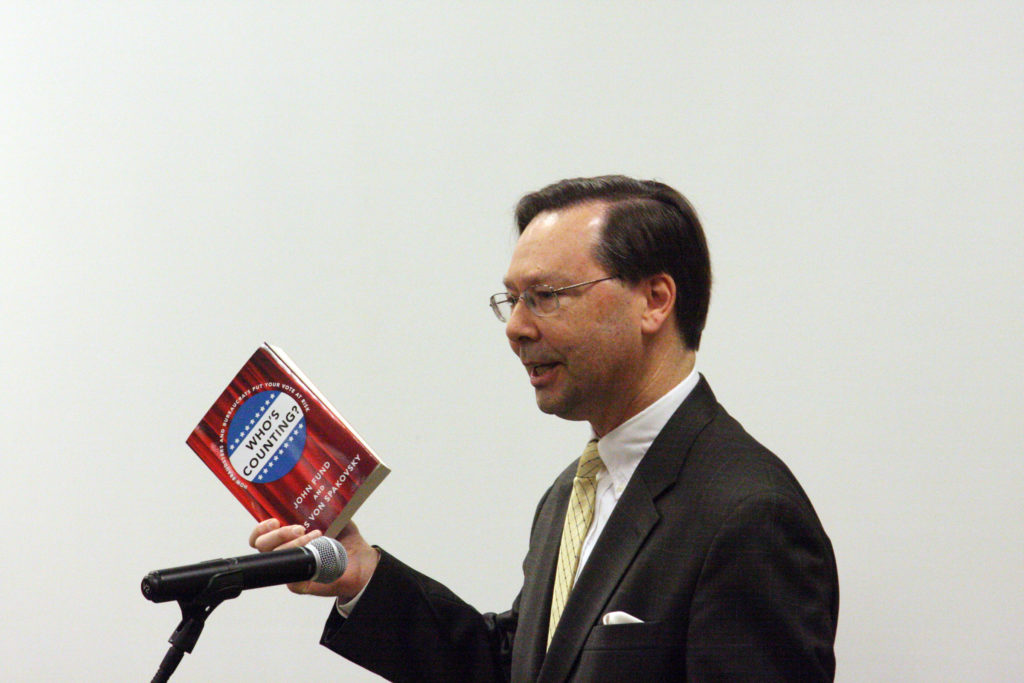 Hans Von Spakovsky, senior fellow at the Heritage Foundation, literally wrote the book about election integrity. He discussed his findings June 17 at the Conservative Leadership Conference in Raleigh. (CJ photo by Dan Way)