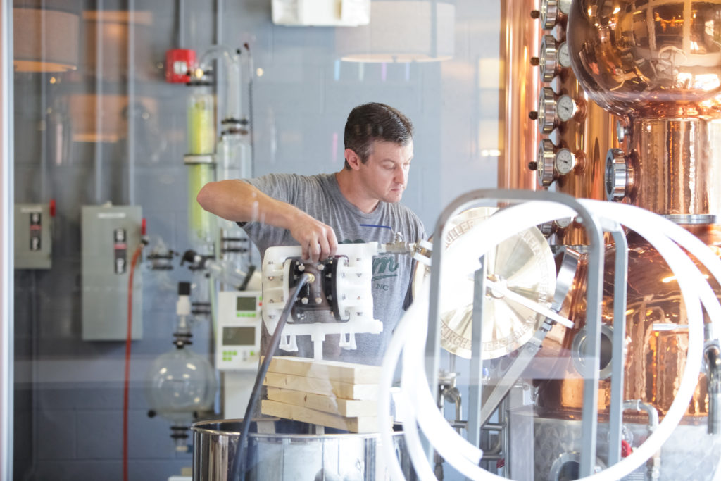 Lee Katrincic, co-owner of Durham Distillery. (Photo courtesy of Durham Distillery)