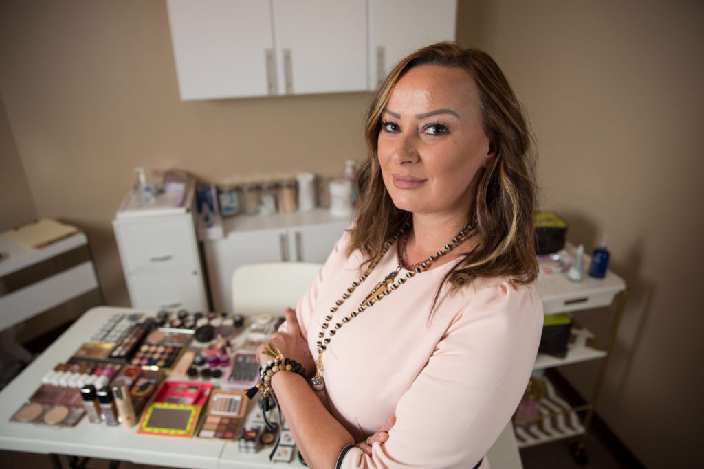Esthetician Jasna Bukvic-Bhayani is suing the N.C. Board of Cosmetic Examiners because it won't let her open a school to teach hobbyists how to apply makeup. (Photo courtesy of Institute for Justice)