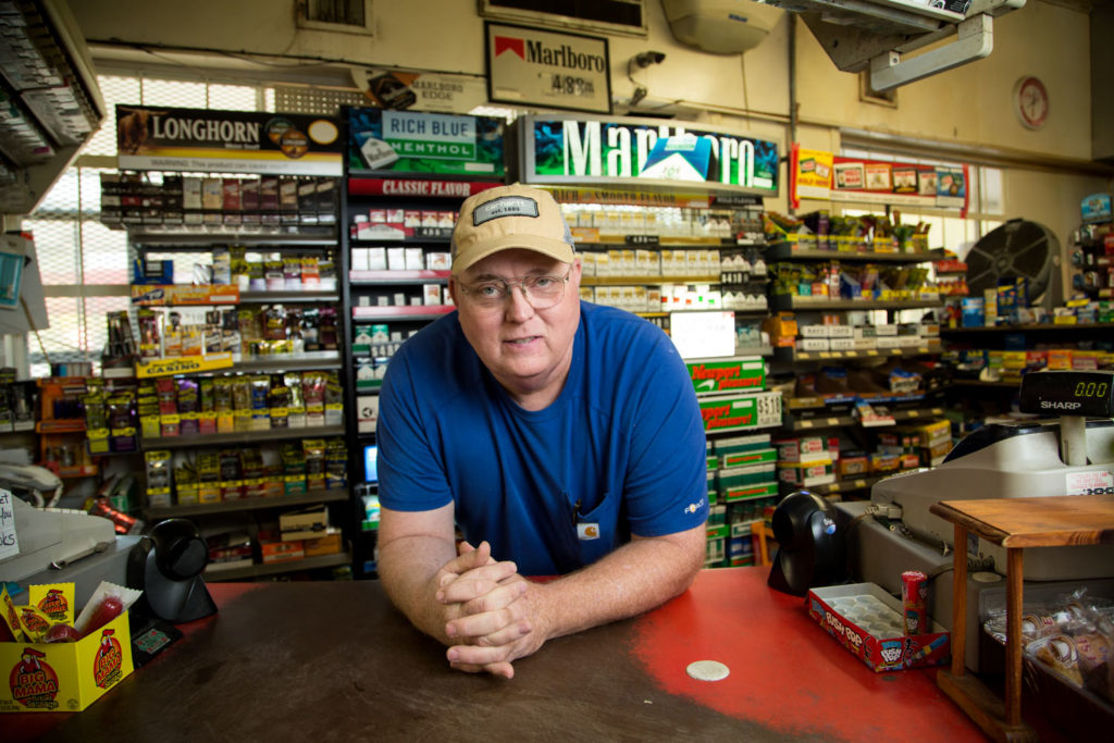 Lyndon McLellan, a store owner in Fairmont, gained national headlines in 2014 when federal agents illegally seized more than $100,000 from his bank accounts in a civil asset forfeiture proceeding. (Photo courtesy Institute for Justice)