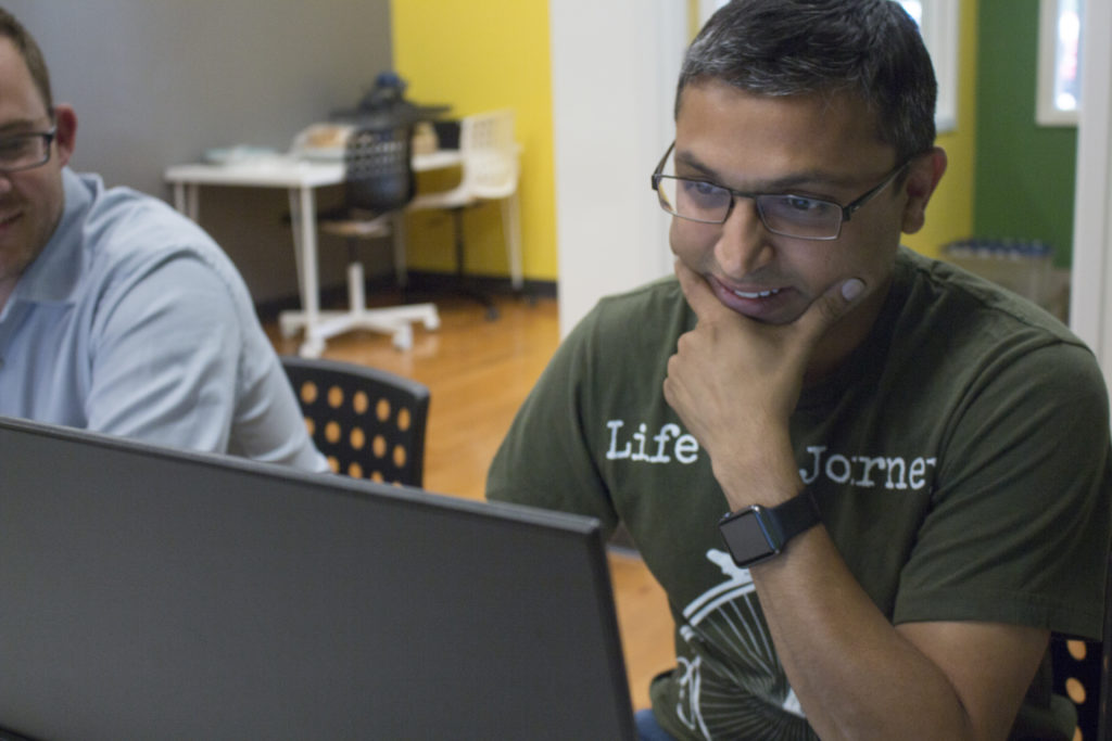 Mehul Shah, owner of Raleigh's new theCoderSchool, opened his Cary academy in 2016. He plans to break ground on a handful of similar schools over the next three or four years. (CJ Photo by Kari Travis)