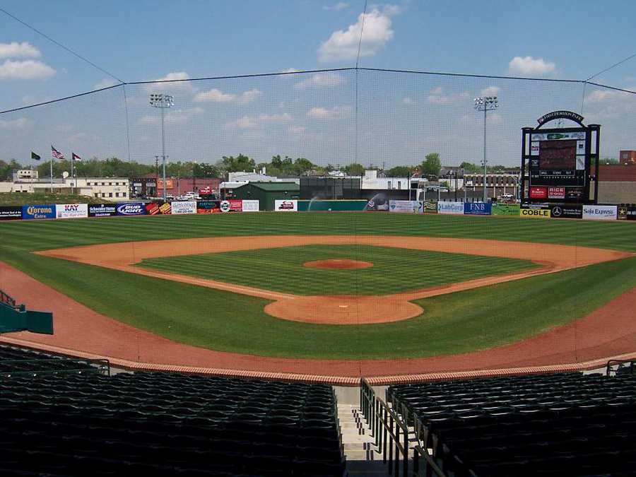 The less-controversial parking deck proposal would sit across the street from First National Bank Field, home of the Greensboro Grasshoppers minor league baseball team. (Photo courtesy Wikipedia)