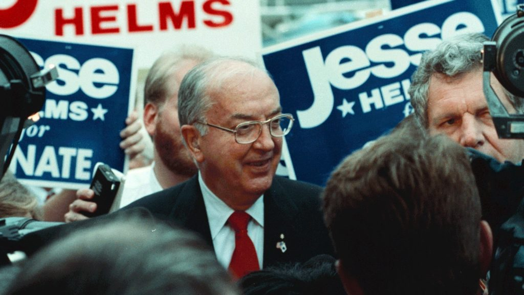 U.S. Sen. Jesse Helms, R-North Carolina, meets with supporters. Photo courtesy of JesseHelmsCenter.org.