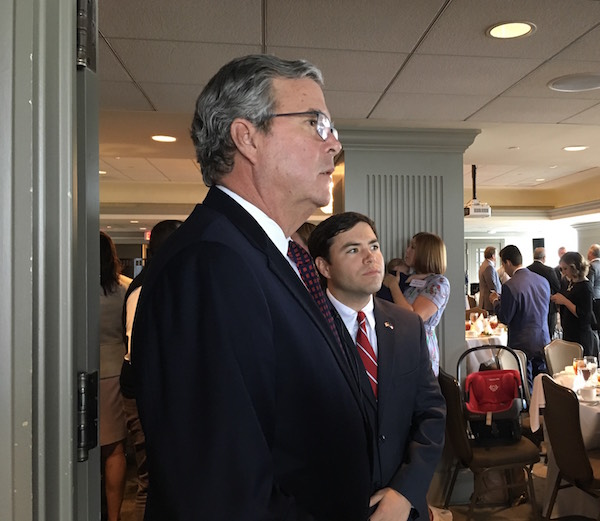 Former Florida Governor Jeb Bush and State Superintendent Mark Johnson discussed education reform during the kickoff event for Grow Great NC. (CJ Photo by Lindsay Marchello).
