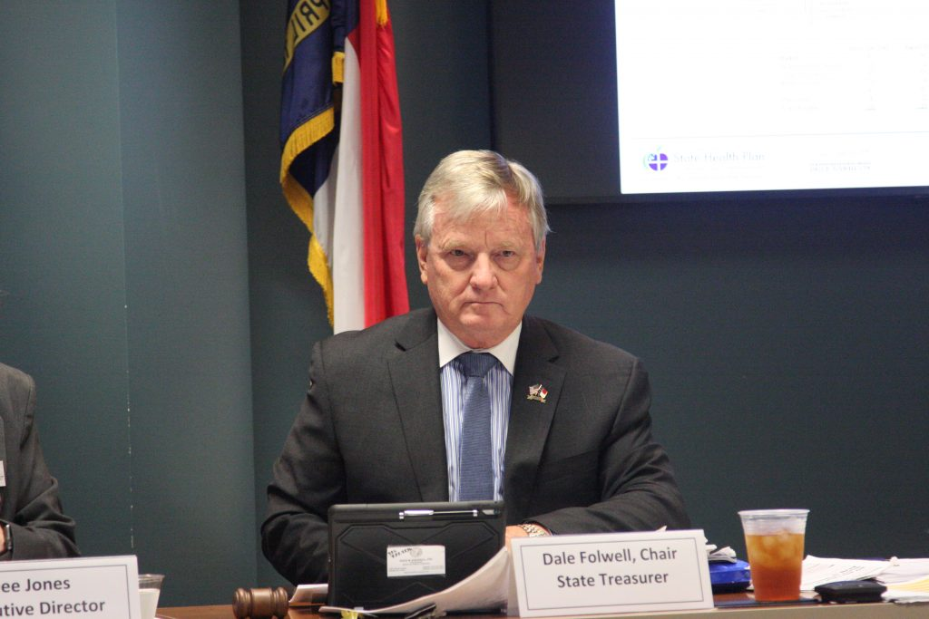 State Treasurer Dale Folwell, in August 2018, chided a lack of transparency in State Health Plan contracts. (CJ file photo)