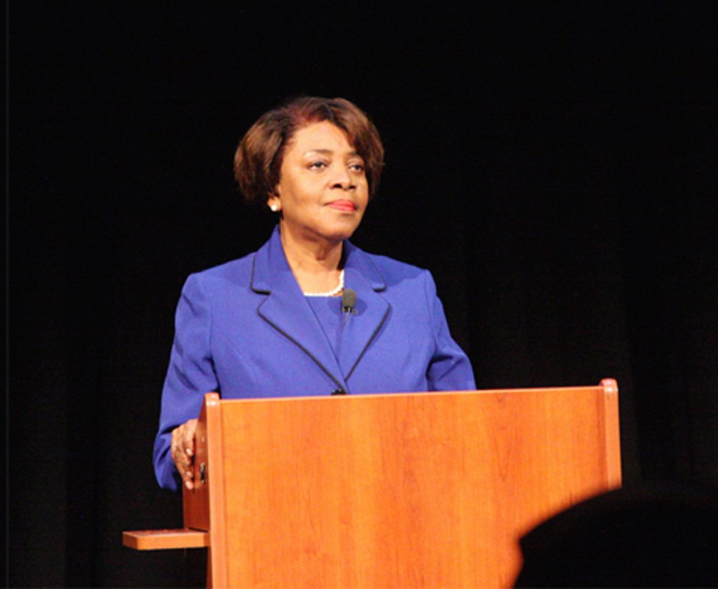 Linda Coleman, Democratic nominee for the 2nd Congressional District, pictured here at a 2016 debate. (CJ file photo)