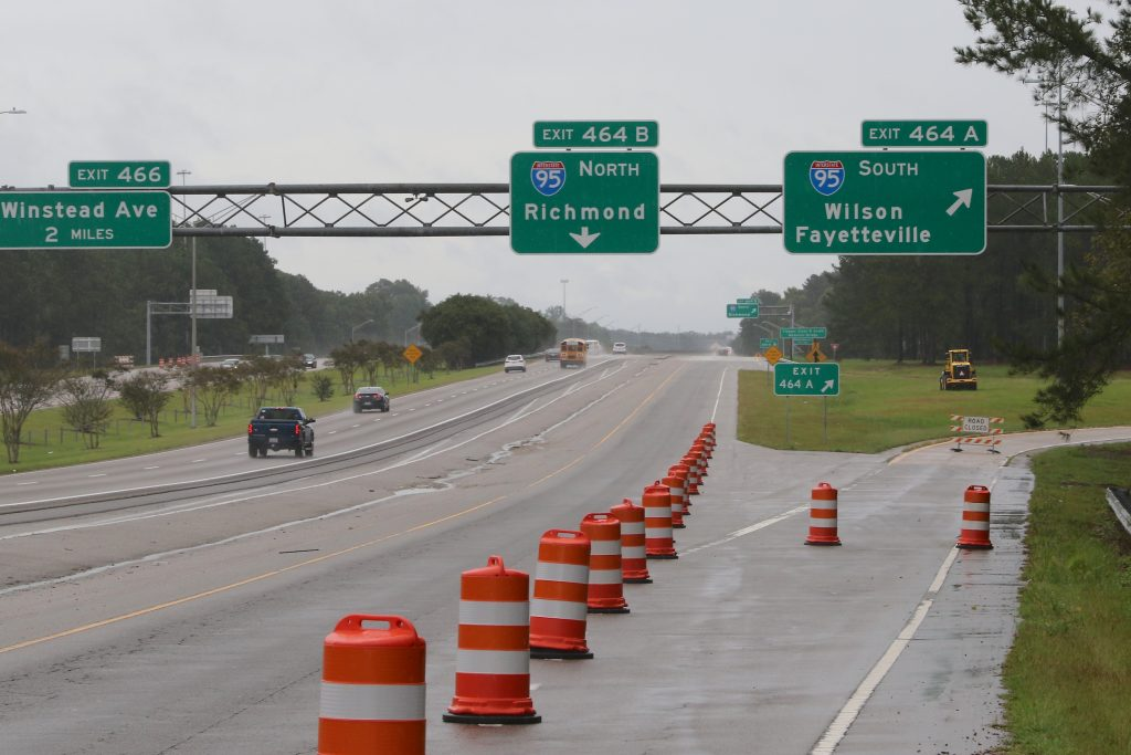 Heavy rains and flooding from Hurricane Florence led transportation officials to close Interstate 95 across much of eastern North Carolina. (CJ photo by Don Carrington)