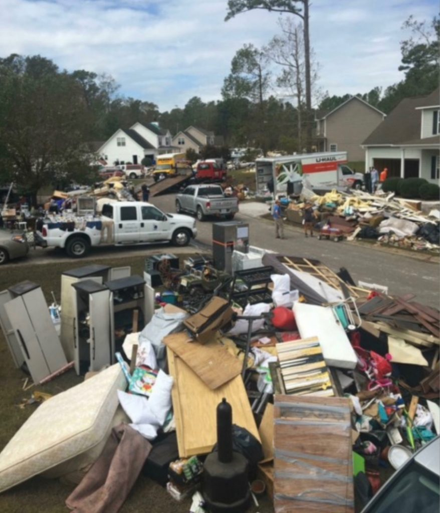 Damage in Brunswick County linked to Hurricane Florence. Photo from the N.C. Department of Transportation.