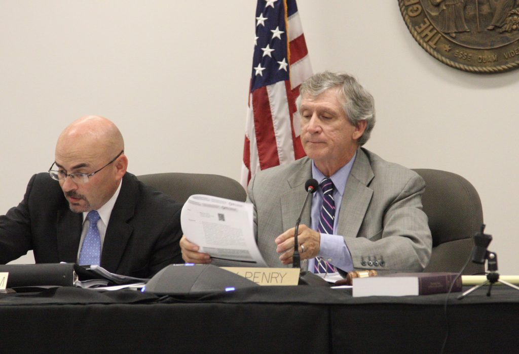 State elections board Chairman Andy Penry presides over the Oct. 17 meeting of the board. (CJ photo by Dan Way)