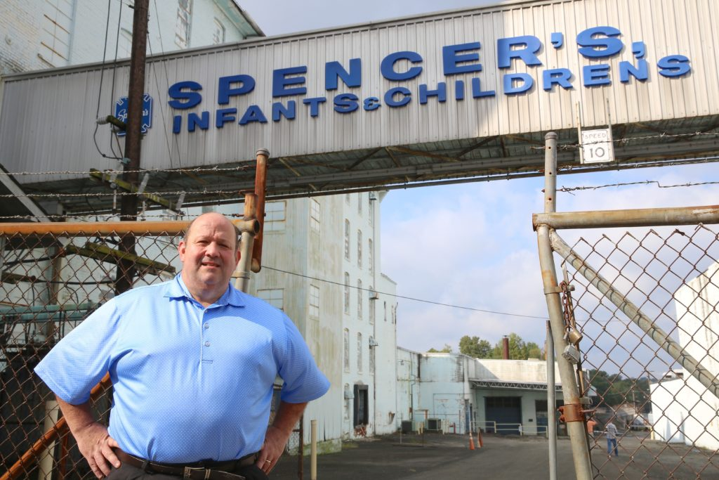 Gene Clark, treasurer of the Citizens for a Transparent Mount Airy, says the city shouldn't subsidize private businesses such as the proposed Spencer's Redevelopment project. (CJ photo by Don Carrington)