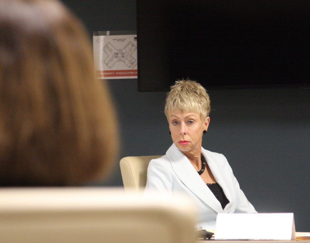 State Auditor Beth Wood at a Local Government Commission meeting in January. (CJ photo by Dan Way)