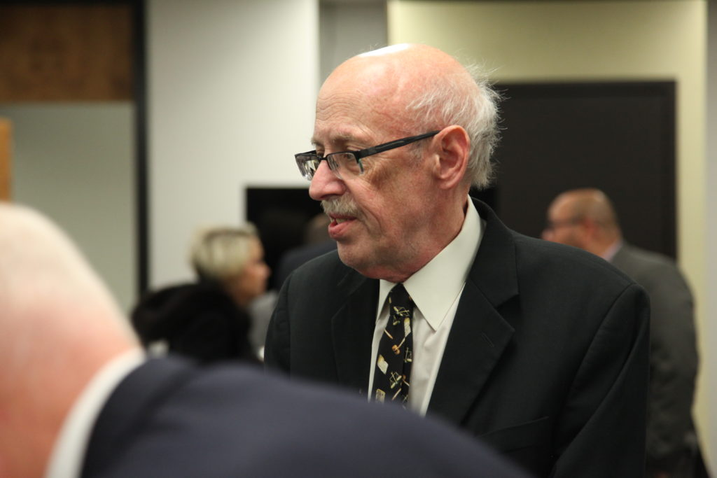 Former General Assembly special counsel Gerry Cohen at a March 4, 2019, meeting of the State Board of Elections. (CJ photo by Dan Way)