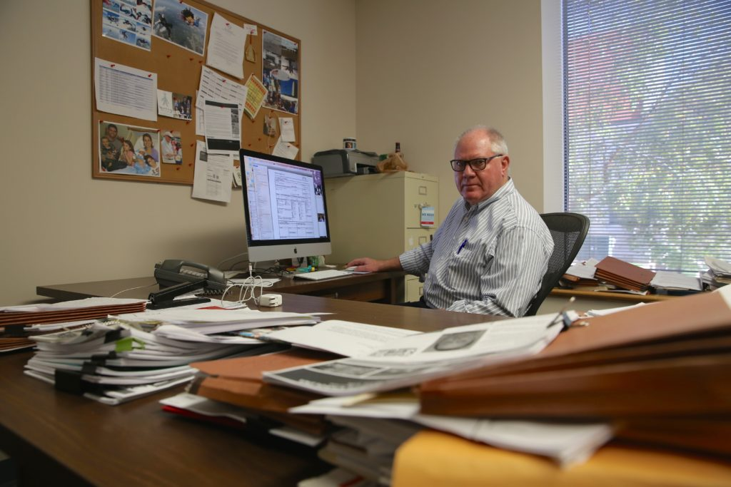 Carolina Journal Executive Editor Don Carrington has produced investigative reports for CJ for more than two decades. (CJ photo by Greg de Geugd)