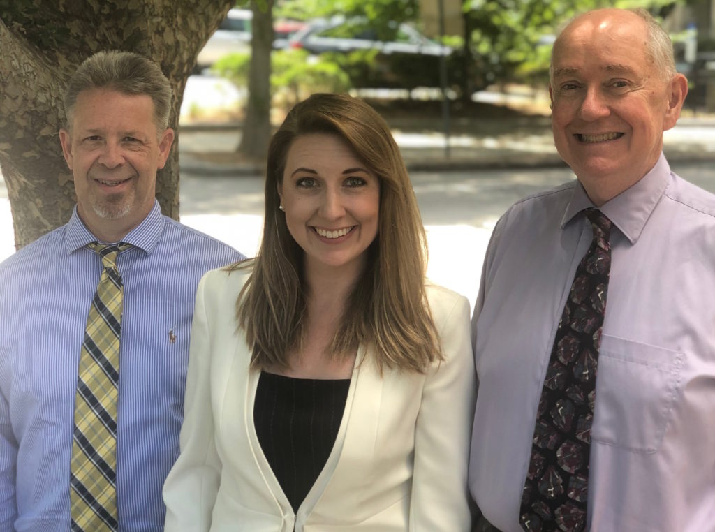 From left, Carolina Journal Managing Editor John Trump, Associate Editor Kari Travis, and Editor-in-Chief Rick Henderson. (Photo by Lisa Snedeker)