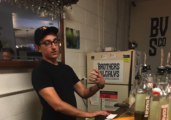 Rim Vilgalys, of The Brother Vilgalys Spirits Co. in Durham. (CJ photo by John Trump)