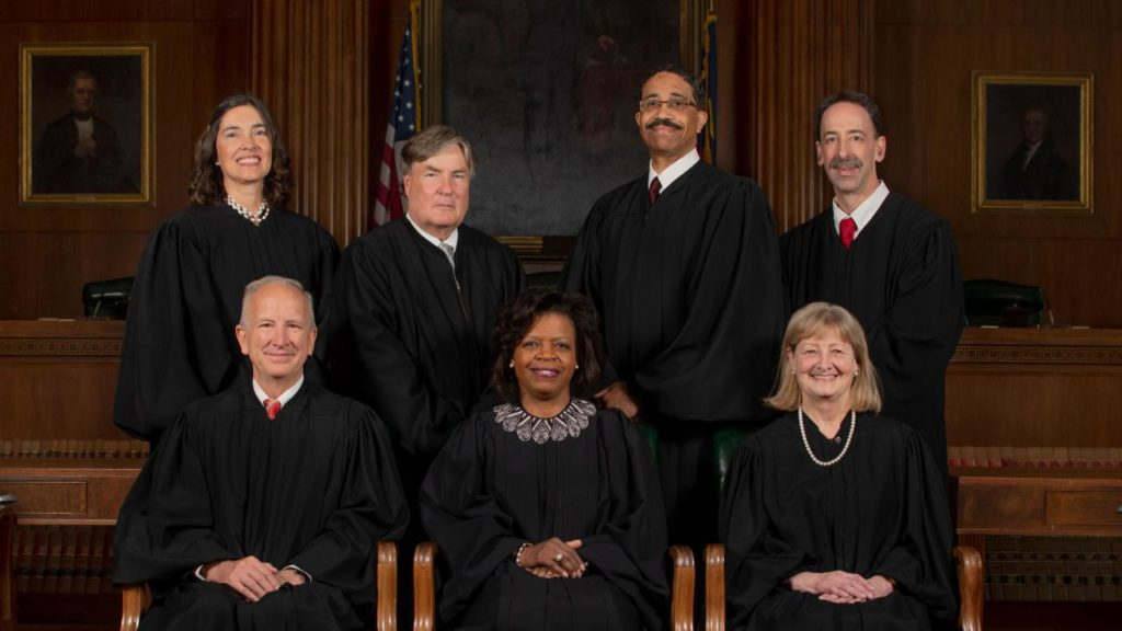 N.C. Supreme Court justices, Spring 2019 (Photo courtesy of N.C. courts)