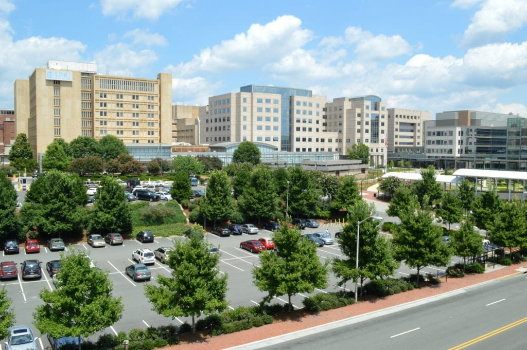 UNC Medical Center, Chapel Hill (Image by Yeungb, Wikicommons)