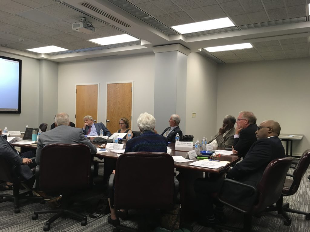 The governor's Leandro commission at a Sept. 9, 2019 meeting. (CJ photo by Lindsay Marchello)