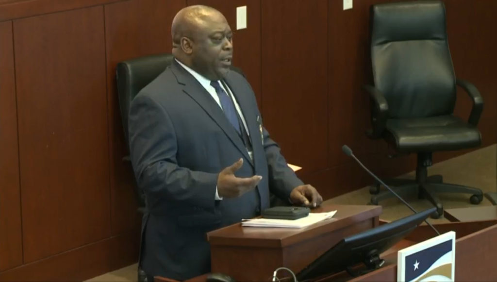 Wake County Sheriff Gerald Baker addresses media on March 26, 2020. (WakeGov.com screen shot)