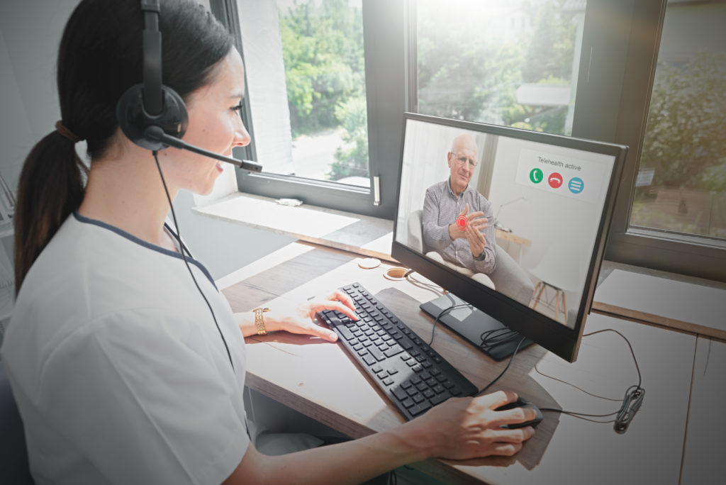 Doctor and patient medical consultation, telehealth, telemedicine, remote health care concept. (Adobe Stock)