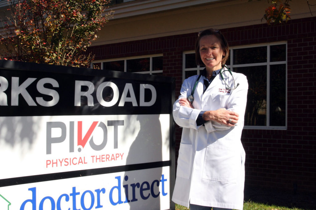 Dr. Amy Walsh, pictured here in 2015 at her Raleigh office, was one of North Carolina's first direct primary care physicians. (CJ file photo)