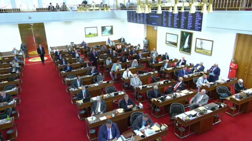 The N.C. House of Representatives conducts business on June 10, 2020. (Image from ncleg.gov video feed)