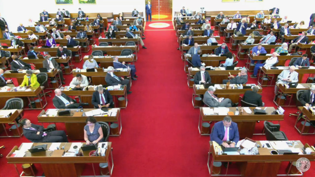 The N.C. House of Representatives conducts business on June 23, 2020. (Screen shot from N.C. General Assembly live stream)