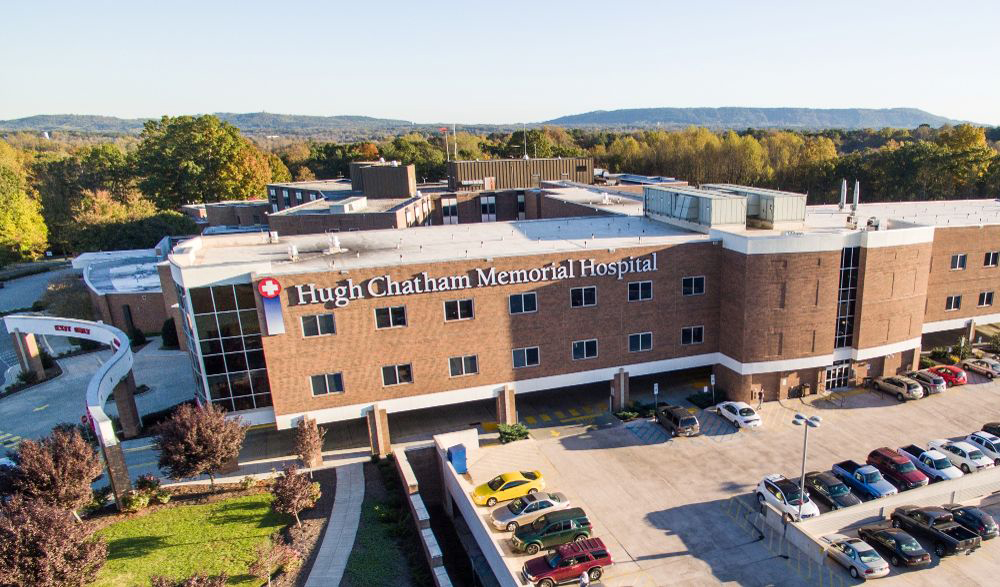 Hugh Chatham Memorial Hospital in Elkin has fared better than most rural hospitals during the pandemic. But until COVID-19 subsides, Hugh Chatham and other rural medical centers will operate on the edge. (Photo from Hugh Chatham Memorial Hospital website)