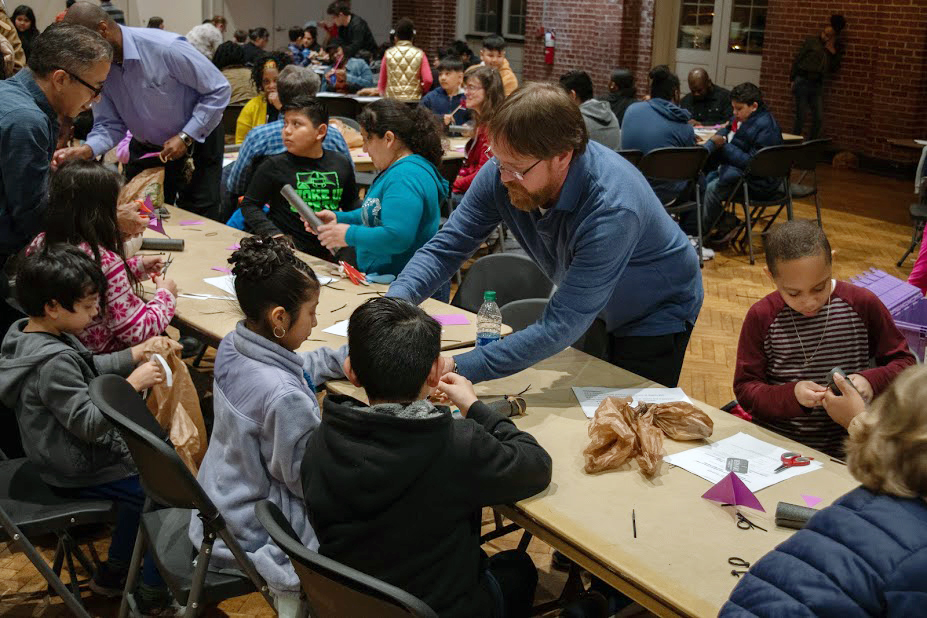 Students and instructors at a Durham Public Schools STEM event, February 2020. (Photo from Durham Public Schools media kit)
