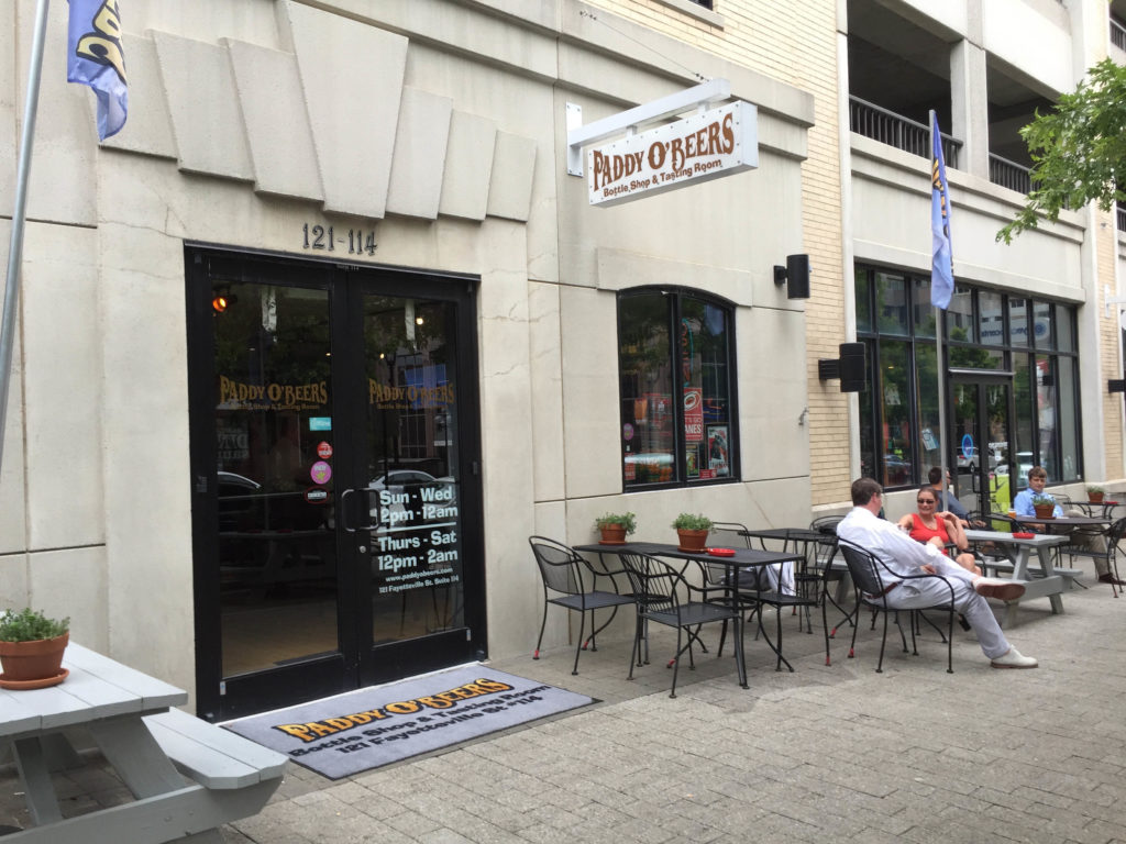 """Paddy O'Beers on Fayetteville Street in Raleigh in 2015. At the time, some city officials limited outdoor drinking and dining because they were worried about too much """"vibrancy."""" (CJ file photo)"""