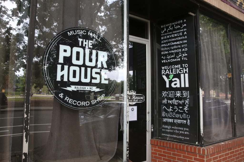 The Pour House Music Hall and Record Shop in downtown Raleigh has continued selling recordings during the COVID-19 pandemic but still wants to reopen for live music as soon as possible. (CJ photo by Don Carrington)