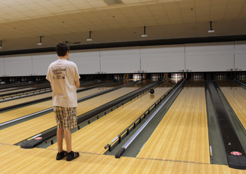 Jordan Clapton bowls at Fairwood Lanes Sept. 16.  (CJ photo)