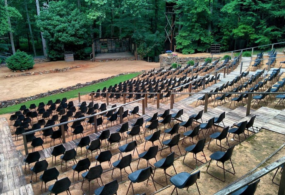 The amphitheater at Snow Camp Outdoor Theatre in Alamance County. (Screen shot from website)