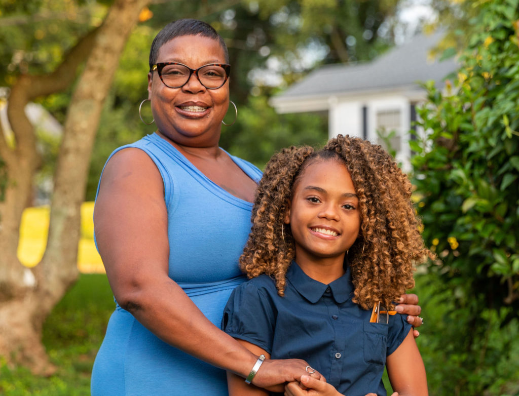 Janet Nunn and her granddaughter Nariah. The Opportunity Scholarship program helped Nariah attend a private school, but if Democrats have full control of the N.C. Supreme Court, they may strike down the program and force Nariah to return to a public school. (Photo provided by Institute for Justice)