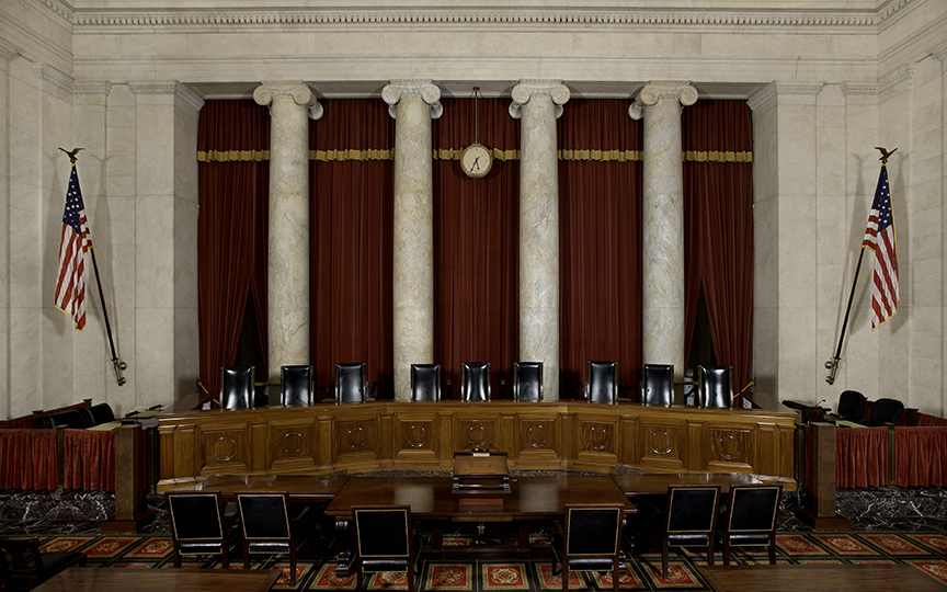 The courtroom at the U.S. Supreme Court (Photo from supremecourt.gov)