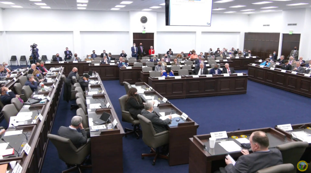 The N.C. General Assembly's Joint Appropriations Committee meets on Feb. 17, 2021. (screen shot from ncleg.gov)