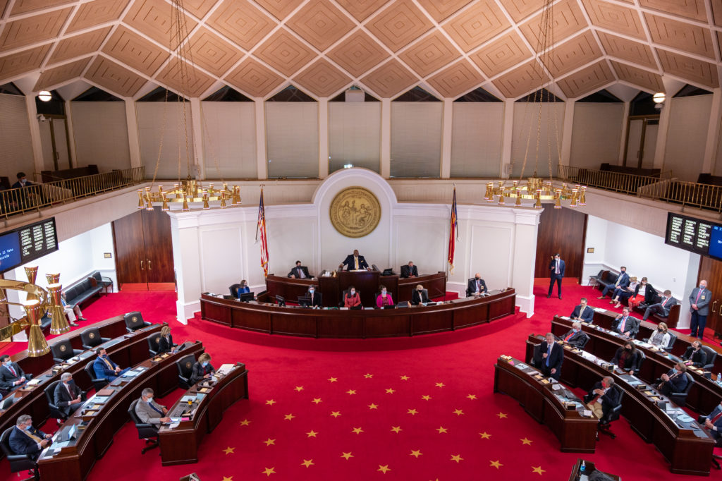 The N.C. Senate, in session Monday, March 1. (CJ photo by Maya Reagan)