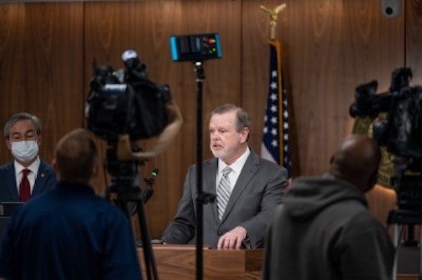 Senate leader Phil Berger during a news conference Tuesday. (CJ photo by Maya Reagan)