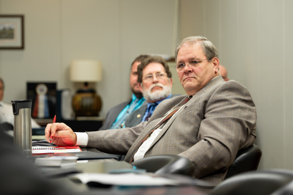Rep. Keith Kidwell, R-Beaufort, foreground, and Rep. Larry Pittman, R-Cabarrus (CJ photo by Maya Reagan)